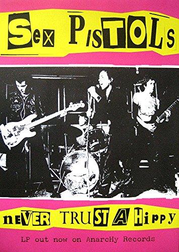 Unbekannt Sex Pistols Poster Never Trust A Hippy