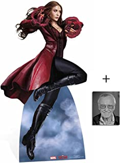Fan Pack - Scarlet Witch Captain America: Civil War Lifesize Cardboard Cutout/Standee / Stand Up - Includes 8x10 Star Photo