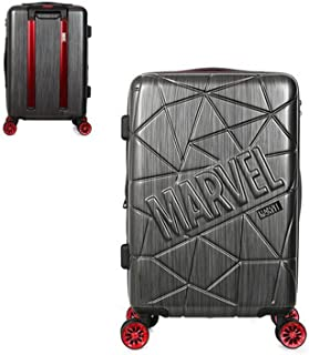 Marvel Mesh Logo Expandable Suitcase Spinner Luggage 20in 24in Carry on (DARK GRAY, 24
