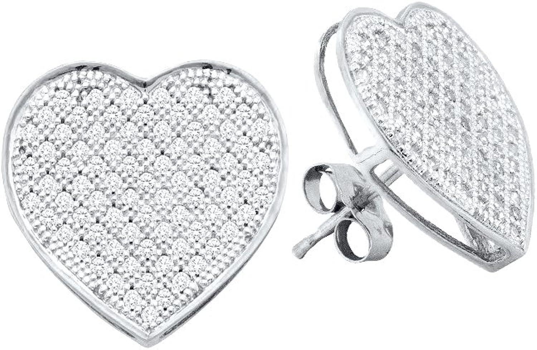 1 20 Total Carat Weight DIAMOND HEART EARRINGS