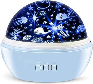 MKL Toys for Boys Star Projector Sky Night Lamp, Starry Sky/Ocean World 2-in-1 Lighting Night Lights, Rotating Projection ...