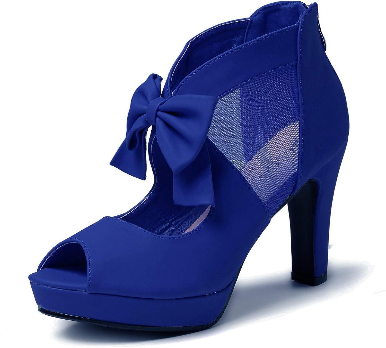 GATUXUS Open Toe Direct stock discount Bargain Women Platform High Shoes Strappy San Bows Heel