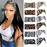 Fashion Headbands for Women Elastic Twisted Criss Cross Hair Bands for Girls Turban Headwraps Hair Accessories 6Pcs
