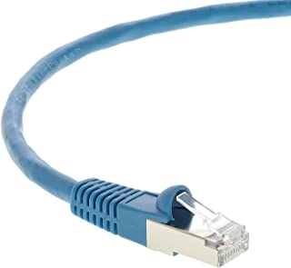 InstallerParts Ethernet Cable CAT7 Cable Shielded (SSTP) Booted 20 FT - Blue - Professional Series - 10Gigabit/Sec Network/High Speed Internet Cable, 600MHZ