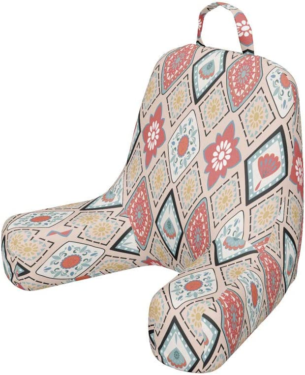 Very popular! OFFicial store Ambesonne Bohemian Vintage Reading Cushion with Pocket Back Pas