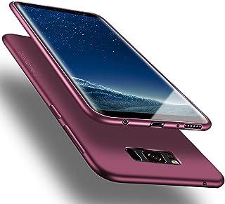 Samsung Galaxy S8 ケース SC-02J SCV36 ケースX-Level おしゃれ カバー 軽量 耐衝撃 薄型 女性 TPU スマホケース サムスン ギャラクシーs8 シリコン 携帯カバー (ワインレッド)