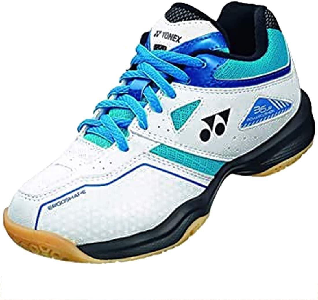 YONEX Power Cushion 36 Junior Badminton Shoe (White/Sky Blue) (7)