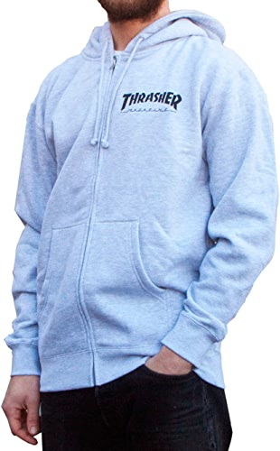SWEAT à CAPUCHE ZIP THRASHER gris - L, gris