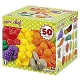 Jouets Ecoiffier – 2655 - Pack 50 fruits et légumes – Imitations d'aliments pour enfants – Dès 18 mois – Fabriqué en France