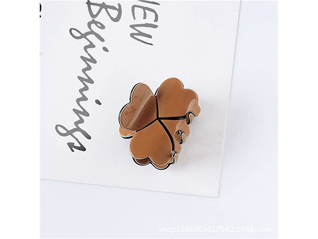 枯れる縫い目アセOsize 美しいスタイル キャンディー色のトランペットプリンセスヘアピンミニ小型グリップクリップヘアアクセサリー(コーヒー)