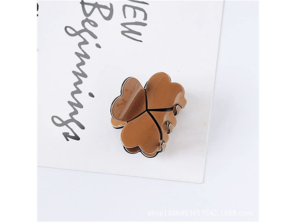 母音生物学ダニOsize 美しいスタイル キャンディー色のトランペットプリンセスヘアピンミニ小型グリップクリップヘアアクセサリー(コーヒー)