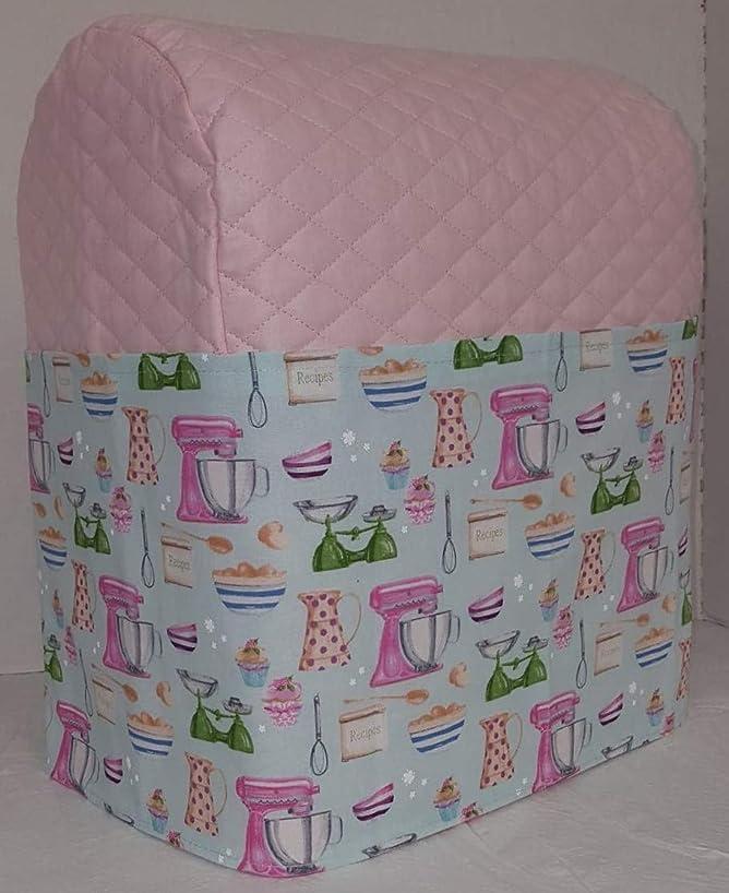 Vintage Kitchen Cover Compatible for Kitchenaid Stand Mixer (Pink, 7qt Proline/8qt Commercial)