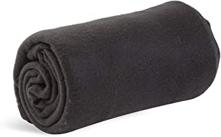 World's Best Cozy-Soft Microfleece Travel Blanket, 50 x 60 Inch, Black, Great for Travel or Lounging at Home