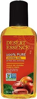 Desert Essence 100% Pure Jojoba Oil for Hair, Skin & Scalp 4 fl oz (118 ml)