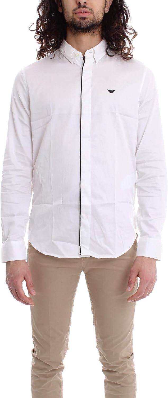 Armani - Camisa para hombre, ajuste entallado, color blanco ...