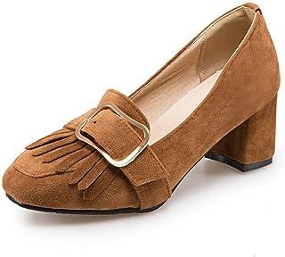 BalaMasa Womens APL11903 Pu Block Heels