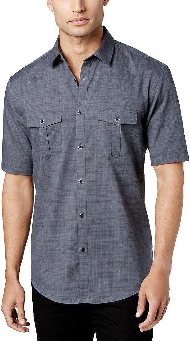 Alfani Men's Warren Textured Short Sleeve Shirt OFFicial site Max 76% OFF