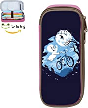 Ghost Rider Large Capacity Canvas Mobile Phone Case Portable for Children Pink