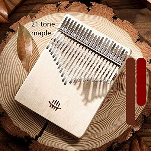 YSTSPYH Daumen Klavier Portable B Box Upgrade 17 21 Tone Mini Piano Thumb Instrument Kimi Kalimba Keyboard Piano Ahornacia Rosewood Walnuss (Color : 21 Tone Maple)
