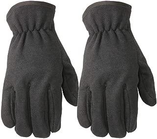Fleece-Lined Jersey Work Gloves, Straight Thumb, Slip-On, Elastic Wrist, 2-Pack, Large (Wells Lamont 2149LN)