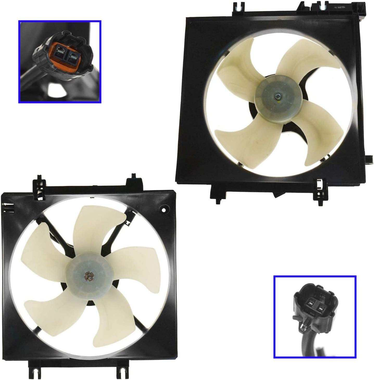 Radiator AC Fort Worth Mall Condenser Cooling Fan 05-13 Assembly Award Subaru Pair for