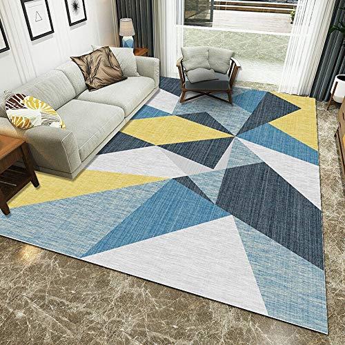 GBFR Alfombra grande de salón, figuras geométricas, alfombra de mostaza, tradicional, sala de estar, dormitorio, estudio, exterior, comedor, baño, balcón, 160 x 200 cm