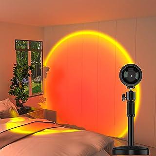 Lampe coucher de soleil, Sunset Lamp, Lampe LED arc-en-ciel, Lampe de projection , Rotation à 360 degrés, Lampe de nuit US...