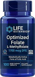 Optimerad folat, 1 000 mcg, 100 Veggie-flikar – livstids förlängning – antal 1