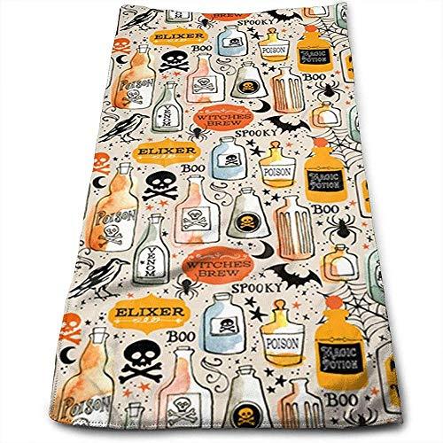 Bert-Collins Towel Vintage Potions Personnalité Amusant Motif Serviettes De Visage Superfine Fibre Super Absorbant Doux Serviettes De Gym