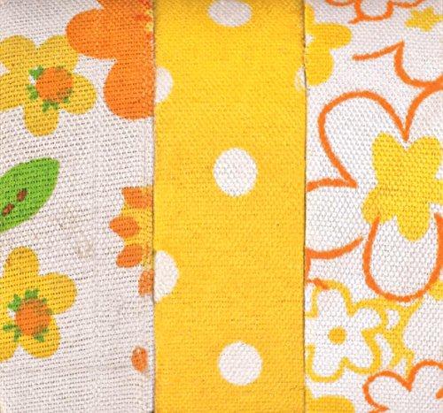 GLOREX Textile Bandes Autocollant, Polyester, Jaune, 9,5 x 6,8 x 5,4 cm