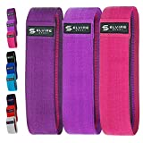 ELVIRE SPORT Resistance Bands (3 Pack) | Booty Band Set | Fabric Resistance Bands for Glutes, Hips and Legs Exercise and Fitness | Yoga, Pilates, CrossFit, Physiotherapy and Recovery | Men & Women
