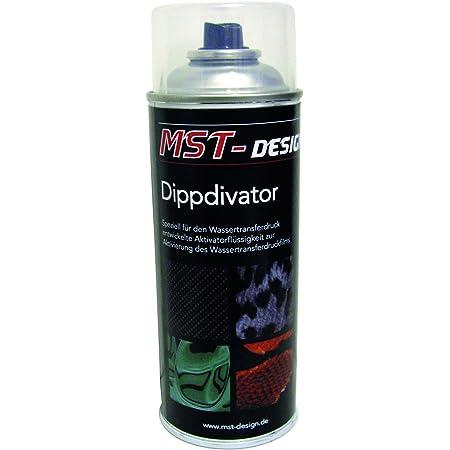 Mst Design Aktivator Dippdivator Für Wassertransferdruck Folie I 400 Ml Spraydose I Für Wassertransferdruck I Aktivatorflüssigkeit Für Handelsübliche Wassertransferdruckfilme Auto