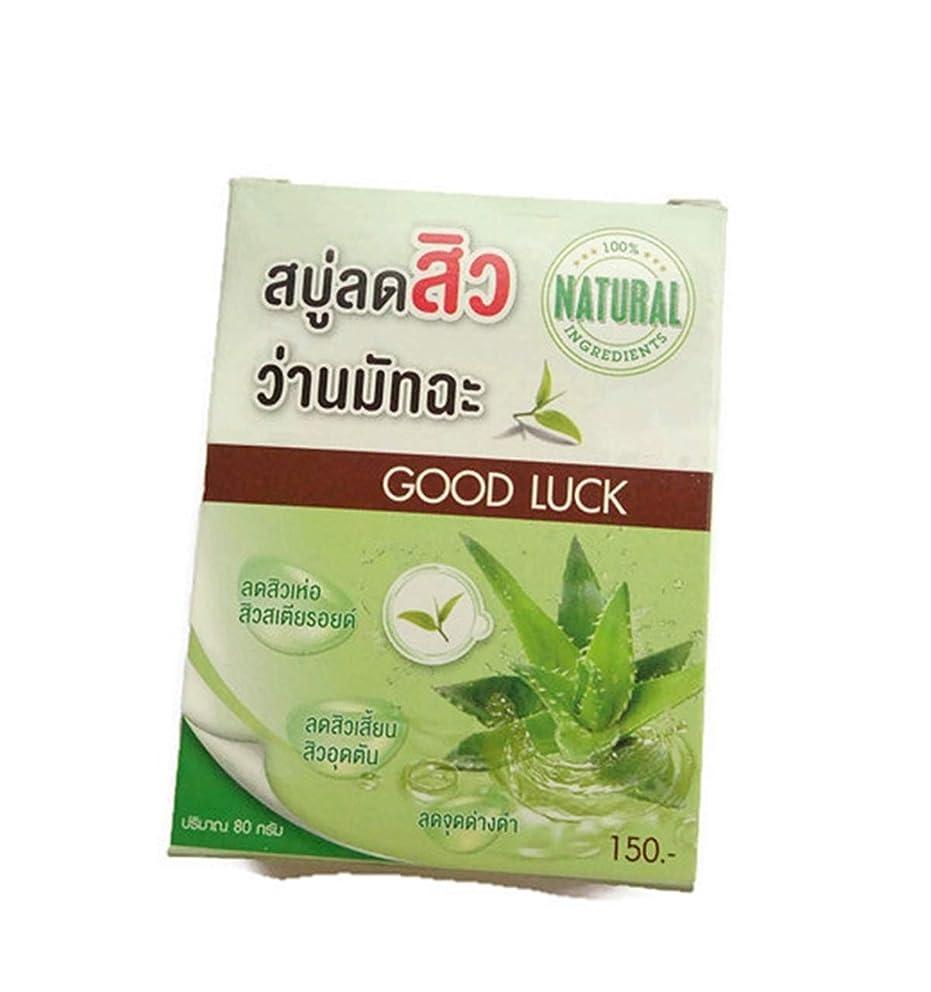 雑種ハロウィン適応するAloe vela Green Tea Vitamin C&E Coconut oil Acne Soap 80 grams.