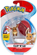 PoKéMoN Eevee & Great Ball, Clip 'N Go Wave 4 - Newest Edition 2020, Catch 'Em All!