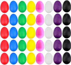 EVNEED 40 قطعه شیکر تخم مرغ پلاستیکی مجموعه ای از اسباب بازی های کودکان و نوجوانان تخم مرغ های سازگار با 8 رنگ مختلف برای اسباب بازی های کودک موسیقی آموزش نقاشی DIY