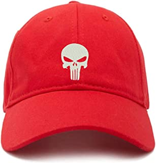 4c2c242420828 DSGN By DNA Punisher Skull Baseball Cap Embroidered Cotton Adjustable Dad  Hat