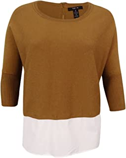 Style & Co. New Womens Plus Size Layered Look Lightweight Pullover Sweater BHFO