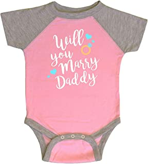 inktastic Will You Marry Daddy-Ring White Infant Creeper