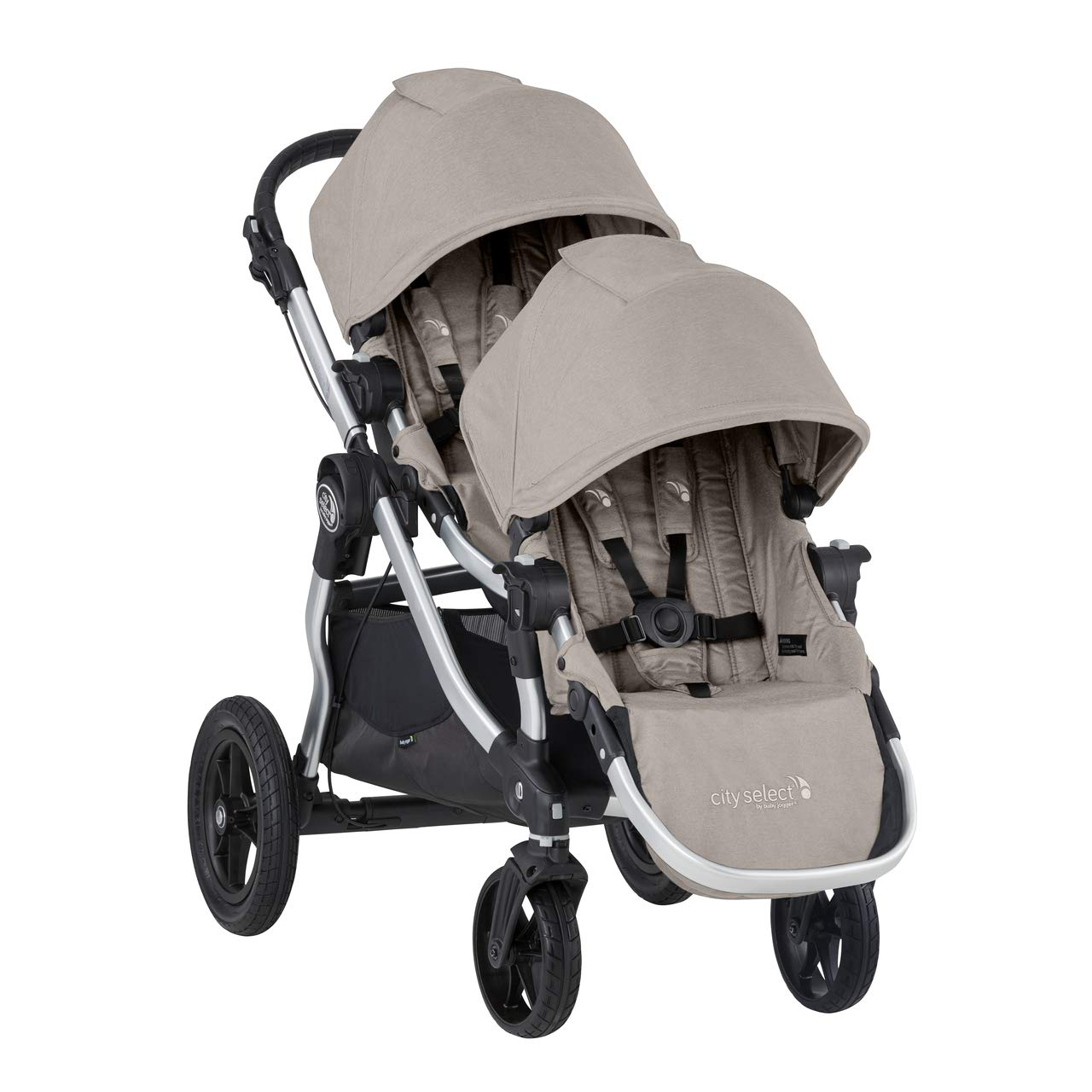 Baby Jogger City Select Double Stroller | Baby Stroller with 16 Ways to Ride, Included Second Seat | Quick Fold Stroller, Paloma