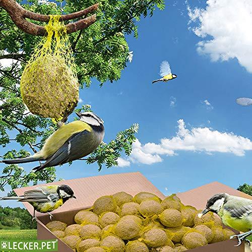 Lecker.Pet® 200 x 90 g Meisenknödel mit Netz Wildvogelfutter Vogelfutter Vögel