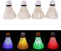 Bigpea 5 pz Notte Badminton volano Luminoso LED Multicolore