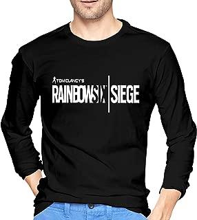 Men's Long Sleeve T-Shirt Rainbow Six Siege Logo Crew Neck Top