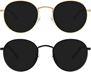 Polarized Sunglasses for Women Double Bridge Hexagonal Vintage Women's Sunglasses with UV Protection