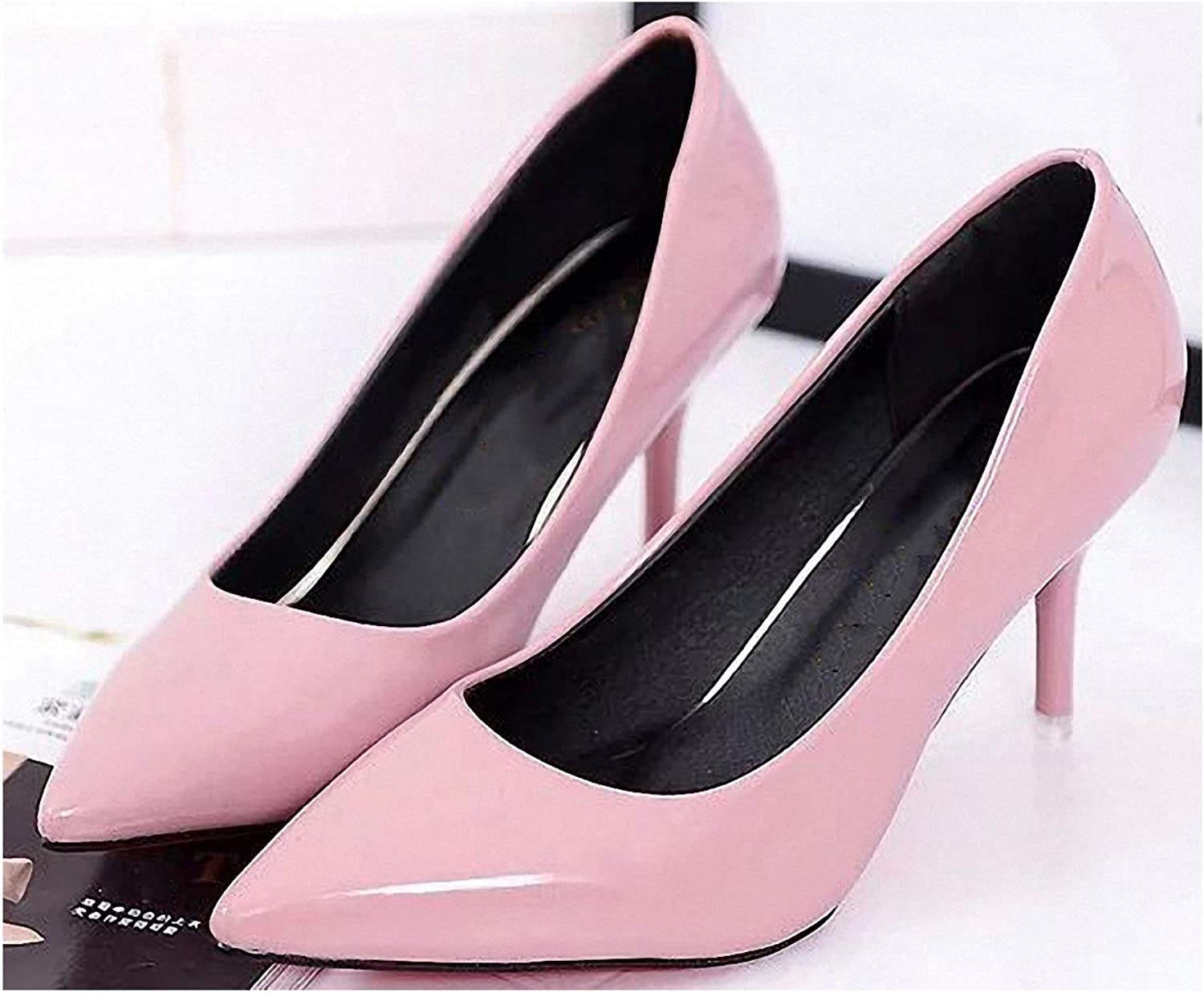 Womens High-Heeled Pumps shoes Women shoes Pointed Toe Pumps Patent Leather Dress Red 8cm High Heels Boat shoes Shadow Wedding shoes shoes women