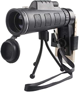 ZLX Small Telescope, Monocular, HD Low Light Night Vision Binoculars, With Compass, Tablet.For Hunting Hiking Cave Black O...