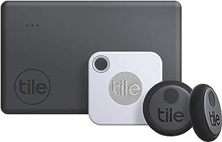 Tile Essentials (2020) 4-pack (1 Mate, 1 Slim, 2 Stickers) - Bluetooth Tracker & Item Locators for Keys, Wallets, Remotes ...