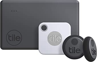 Tile Essentials (2020) 4-pack (1 Mate, 1 Slim, 2 Stickers) - Bluetooth Tracker & Item Locators for Keys, Wallets, Remotes ...