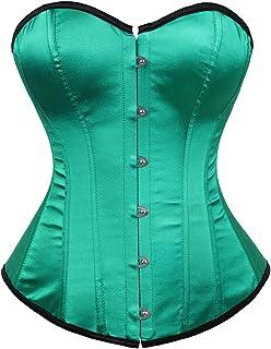 b53cf25784 C2U Women Plus Size Corsets Lace Boned Overbust Bustier Top Waist Cincher  Bodyshaper