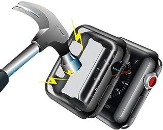 Aottom para Funda Apple Watch 42mm Series 3,Funda iWatch 42mm Transparente Protector de Pantalla Completo TPU Suave Ultra ...