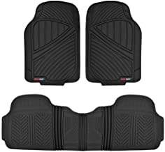 Motor Trend MT-773-BK Black FlexTough Baseline-Heavy Duty Rubber Floor Mats for Car SUV Truck Van, 100% Odorless & All Weather Protection